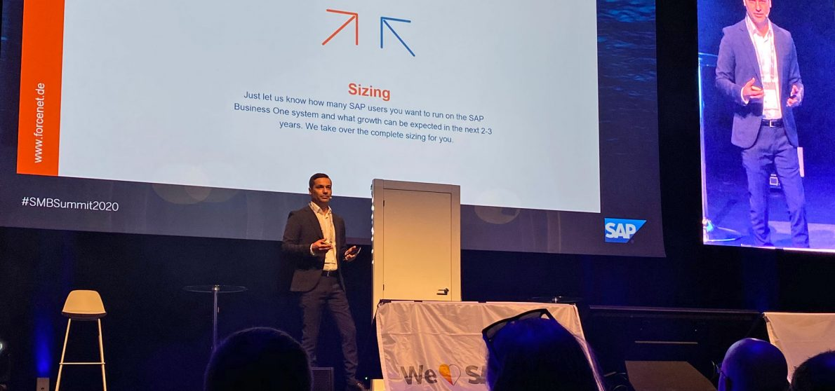 """Welche Vorteile die """"Ready to Go DELL HANA Appliance"""" allen SAP-Business-Partnern bietet, darüber sprach Jean Ora als einer der Keynote Speaker auf dem Innovationsgipfel """"SAP SMB Summit"""" im Februar 2020. Foto: forcenet"""